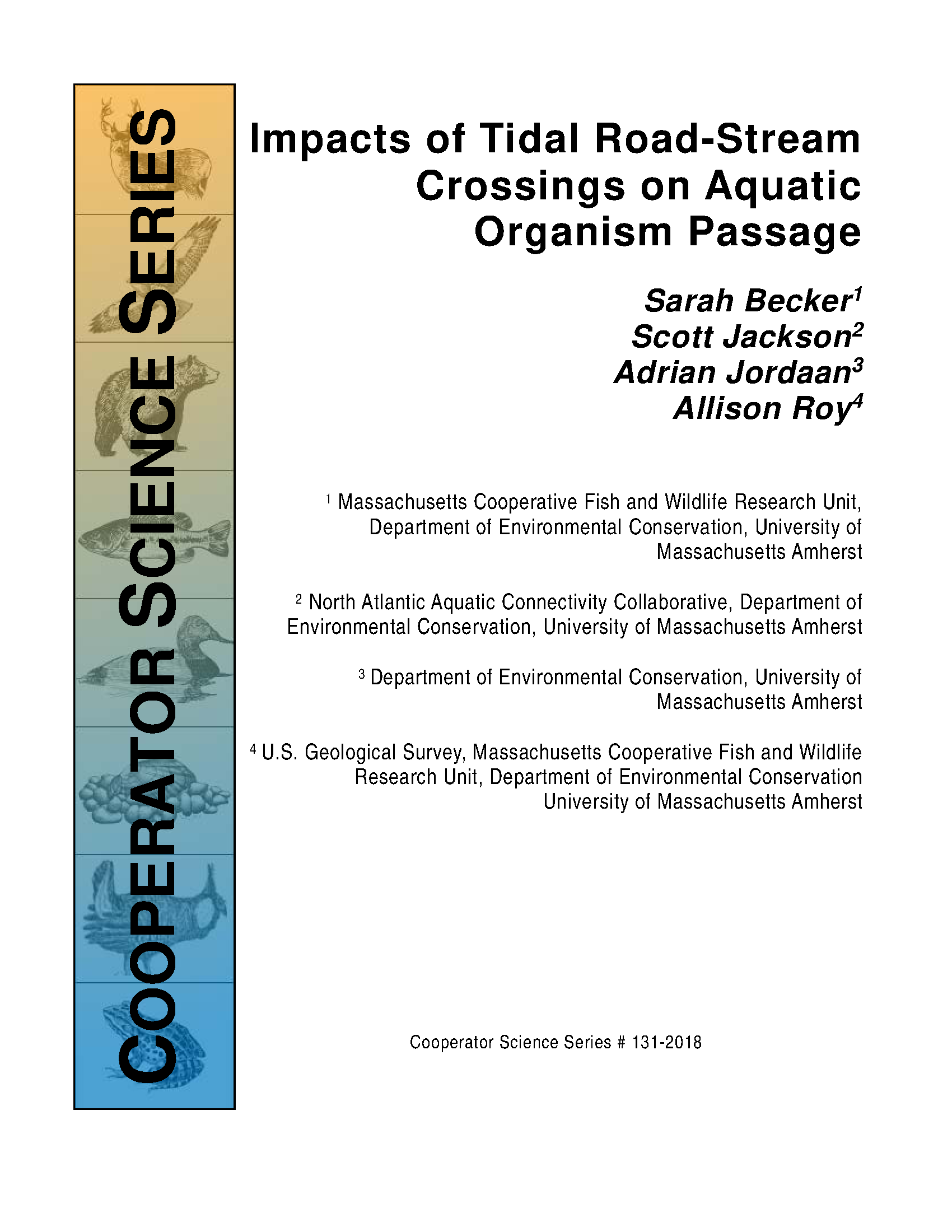 Impacts of Tidal Road-Stream Crossings on Aquatic Organism Passage