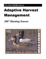 Adaptive harvest management 2007 duck hunting season