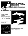 Physical habitat simulation system reference manual - Version II, Instream flow information paper...