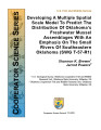 Developing a multiple spatial scale model to predict the distribution of Oklahoma's freshwater...