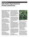 Safe harbor agreements for private landowners
