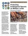 Protecting endangered species on military land: the sonoram pronghorn