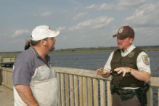Fishing licence compliance check