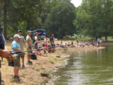 Boy Scouts Jamboree fishing activity