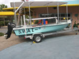 The Shallow Water Attention Terminal (SWAT) boat