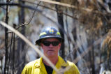 Employee works on a prescribed burn.
