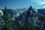 Scenic view of Half Dome