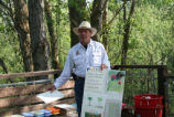Art activities in the outdoors at the Stone Lakes National Wildlife Refuge.