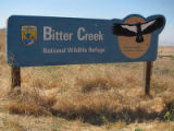 Sign at Bitter Creek National Wildlife Refuge