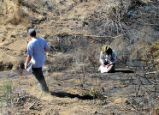 Monitoring and Assessment Team at San Diego National Wildlife Refuge after Jamacha fire