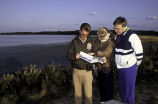 FWS EmployeeTalks with Visitors at Chincoteague National Wildlife Refuge