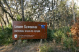 "Sign: ""Lower Suwannee National Wildlife Refuge"""