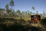 "Sign: ""Habitat Restoration Area"""