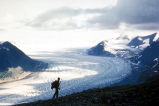 Skilak Glacier and Hiker