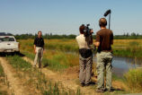 Filming at Tualatin River National Wildlife Refuge