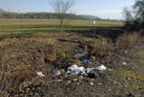Trash on Ankeny National Wildlife Refuge