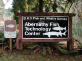 Sign: Abernathy Fish Technology Center