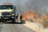 Marsh burning at Modoc National Wildlife Refuge