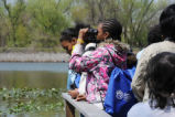 Students on a Birdwalk at Tinicum Marsh