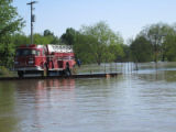 Stranded fire truck at White River