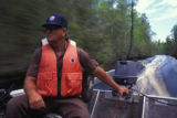 FWS Volunteer Drives Boat