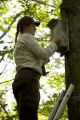 USFWS checks Northern Flying Squirrel nest box