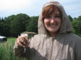Forsythe intern Mourning Dove banding