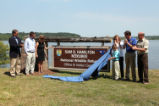 Unveiling ceremony for Sam D. Hamiliton Noxubee NWR sign