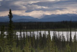 Scenic view of lake and mountains at Tetlin National Wildlife Refuge