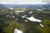 Aerial of ponds and lakes at Tetlin National Wildlife Refuge