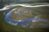 Aerial of lakes and rivers with wetlands at Tetlin National Wildlife Refuge