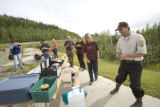 FWS employee with visitors at Tetlin National Wildlife Refuge