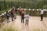 U.S. Fish and Wildlife Service employee talking to visitors at Tetlin National Wildlife Refuge