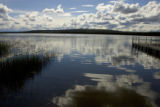 Reflection of sky on lake in Tetlin National Wildlife Refuge