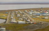 Village along the coast at Arctic National Wildlife Refuge