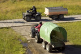 Using 4-wheelers to transport items in Alaska