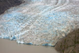 Aerial view of Alaskan glacier