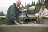 Photographer with Service employee at Tetlin National Wildlife Refuge