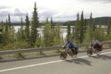 Biking through Tetlin National Wildlife Refuge