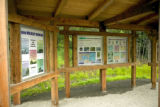 Interpretative refuge signs at Kenai National Wildlife Refuge in Alaska