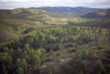 Aerial view of mountains at Selawik National Wildlife Regue