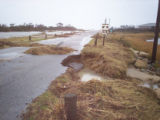 Road to the beach was damaged during a Mid-Atlantic nor'easter