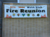 Seney National Wildlife Refuge Welsh Ditch Fire Reunion sign
