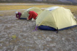 Tent camping in a wilderness area