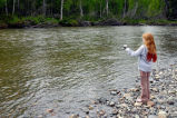 Girl fishing at Willow Creek
