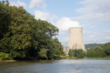 Scenic of Ohio River and Nuclear Power Plant