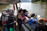 Ohio River National Wildlife Refuge staff scuba diving for freshwater mussel survey
