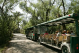 Nature tram with visitors