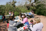 School children having a picnic at Laguna Atacosa National Wildlife Refuge