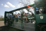 Tour bus with visitors at Laguna Atascosa National Wildlife Refuge